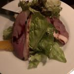 テルミニ - スモーク鴨とオレンジのサラダ 取り分け