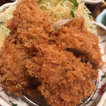 かつアンドかつ - ヒレカツと牡蠣フライ。