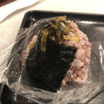 吾ん田 - 十五穀米高菜。