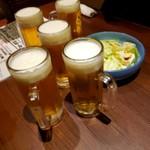 やき鳥魂 わだ家 - みんなビールで乾杯