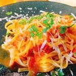 98288381 - キタッラ 豚頬肉のベーコンと玉葱のトマトソース アマトリチャーナ