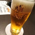 魚貝三昧 げん屋 - 生ビール  エビス