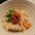 禅紫 - ワタリガニ土鍋御飯(せいこガニの卵on)