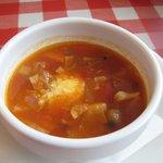 今日和 - Aセットのスープ。セットスープの割りに具がちゃんと入ってます。