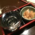 七番蔵 - お通しは酒造の経営らしく日本酒で