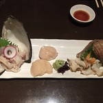 七番蔵 - 北の貝の3点盛り ベタですが美味しいです