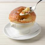 クラムチャウダーのサクサクパイ包みスープ
