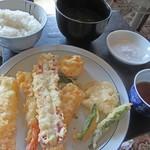 どんぶり名人 - 料理写真:天ぷら定食