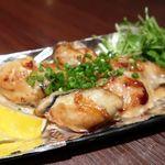 98295746 - 広島産牡蠣のバター醤油鉄板焼き