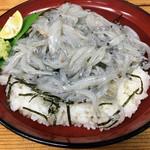 山武水産 - 生しらす丼800円
