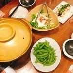 三代目 鳥メロ - 枝豆・サラダ・豆腐のバンバージー