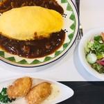 上野精養軒 - オムハヤシとカニクリームコロッケ