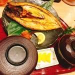 生け簀の甲羅 - トロ鯖定食