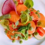 グルメハウス プシューケ - 料理写真:ホタテ貝のソテートマトクリームソース