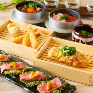天麩羅と和食が楽しめる宴会コースは飲み放題付き2980円〜