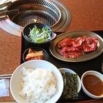 焼肉レストラン 鶴松 - 上ハラミ定食(120g)1,280円→本日は100円引きで1,180円☆お肉は勿論、タレもとっても美味しかったです♡12/12