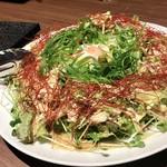 地産地鶏専門店 茂松 - 地鶏の棒棒鶏サラダ