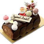 お菓子の森 - 2018クリスマスケーキ/ブッシュドノエル