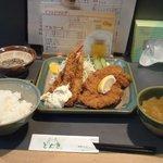 函館 とんき - 海老フライロースかつ定食