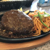 肉の万世 - 料理写真:ハンバーグ&ナポリタン!