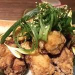 地産地鶏専門店 茂松 - かしわ鷄のネギ塩唐揚げ