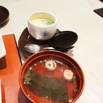 鮨・割烹 花絵巻 - お吸い物と茶碗蒸し^ ^