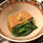 98323932 - 煮穴子 海老芋 京辛菊菜