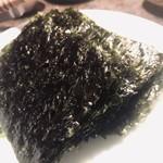韓灯 - 韓国海苔。30〜40枚くらいの海苔束