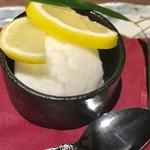 地産地鶏専門店 茂松 - 瀬戸内レモンシャーベット