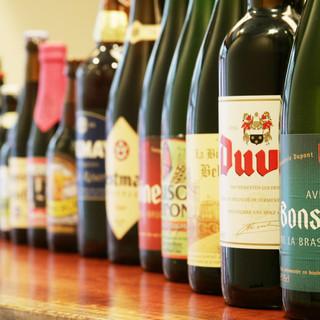 30種類以上のベルギービールと焼鳥のペアリングも楽しい