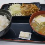吉野家 - 生姜焼き定食 550円+豚汁変更130円