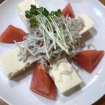 沼津魚がし鮨 - トマトと豆腐としらす