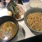 麺屋錦 - 「カレーつけ麺」880円+「全部(トッピング5点)」410円