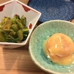 98351757 - 茎わさび醤油漬け/卵黄味噌漬け