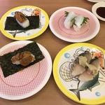 かっぱ寿司 - 料理写真:雲丹、〆鯖、エンガワ!