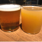 Beer&Beef Dinning Cariage - TAP-1◉左①BREAKSIDE(USA)WANDERLUST<ブレイクサイド ワンダーラスト>Regular 税込み1000円 種類:IPA ◉右⑥2SP(USA)Solar Baby <ツー・エスピー ソーラー・ベイビー>Regular 税込み1100円 種類:HAZY PALE ALE