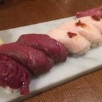 渋谷 道玄坂 肉寿司 - 馬!