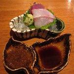 日本料理 美松 - お造り(コロ鯛、戻り鰹)