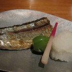 日本料理 美松 - 焼き物(秋刀魚の塩焼き)