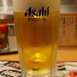 秋吉 - 生ビール 490円(税別)