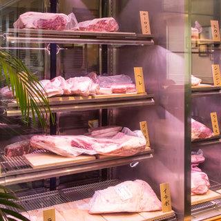 45日以上寝かせた熟成肉。希少部位14種から選ぶ真のステーキ