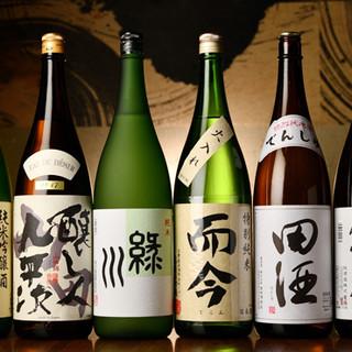リストにないものを含め、約20種類の日本酒がオススメ