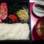 沖苑 - 料理写真:カルビ焼肉定食