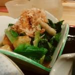 おばんざい屋 ふぅ - おばんざいセットの小松菜の辛子和え