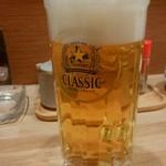 おばんざい屋 ふぅ - おばんざいセットのビール