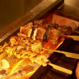 名古屋コーチンを使った絶品炭火焼鶏