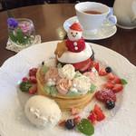 98384544 - クリスマスパンケーキ1500円