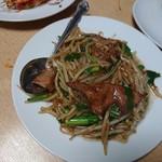 晴々飯店 - レバニラ炒め