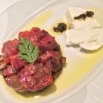 ヴィンチェロ - ハムのタルタルと茄子のソテー/モッツァレラ