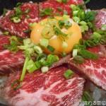 牛道場 - レアステーキ丼